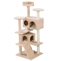 Wholesale New Cat Tree Tower Condo Furniture Scratch Post Kitty Pet House Play Beige