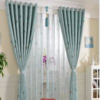 Wholesale Custom double sided printing field wave short window curtain bedroom custom curtain finished children sitting room window shade
