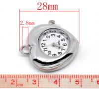 Wholesale Fashion Heart Quartz Watch Face Fit Chain Bracelet Necklace x26mm Watch Faces Cheap Watch Faces