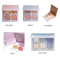 Wholesale 2016 New Ana Glow Kit Makeup Face Blush Powder Blusher Palette Cosmetic Shades Gleam That Glow Sun Dipped Sweets Moon Child DHL free