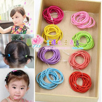 baby jewelry stores - Mixed Color Baby Girl Kids Tiny Hair Bands Elastic Ties Ponytail Holder Rubber Band Special Supply Two Yuan Jewelry Supply Store