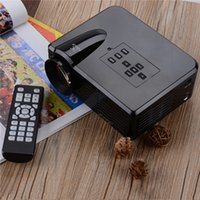 av office - Home Theater Projector Uhappy U35 Office and Home Support VGA AV USB SD HDMI LED Mini Projector EU Plug Black