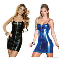 Wholesale Hot Sexy PU Leather Wear Black Latex Cat Costume Bandage Erotic Catsuit Pvc sexy lingerie zipper Dress Suit Halloween Night Club Fs0095