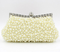 Wholesale 2016 new Bridal Hand Bags Wedding Accessories pearls Floral Party Prom Hand bags Bridal Hand Bags