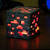 Wholesale Minecraft Light Up Popular Game Redstone Ore Square Minecraft Night light LED Minecraft Figure Toys Light Up Diamond Ore Y001
