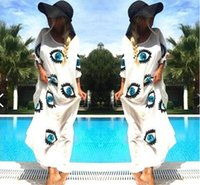asymmetrical eyes - Women New Clothes for Summer Wear Big EYES Pattern Design Long Casual Dresses Clothing