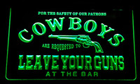 beer party lights - LS171 g Cowboys Leave Guns Bar Beer Neon Light Sign