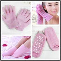 Wholesale 2 Moisturize Soften Repair Cracked Skin Moisturizing Treatment Gel Spa Socks Gel Gloves Gel Socks Beauty Spa Moisturizing Skincare