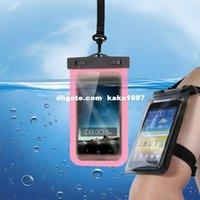 Wholesale arm with a drifting swimming touch screen mobile phone waterproof Samsung Apple mobile phone waterproof bag wholesa