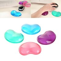 Wholesale Heart Silicon Mouse Pad Clear Wristband Pad For Desktop Computer Wonderful Gift Cold hand pillow slip