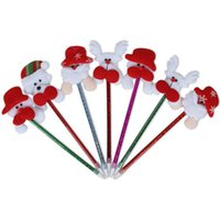 Wholesale Christmas Gift Wholesale Deal - Korea Hot Products Christmas cartoon ballpoint old head Christmas gifts wholesale school supplies prizes deals