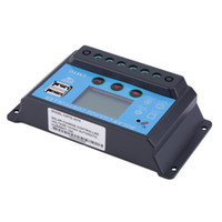 Wholesale 10A V V Solar Charge Controller with LCD Display Auto Regulator Timer Solar Panel Battery Lamp LED Lighting Top Sale
