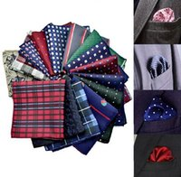 Wholesale 20 Types Men s Pocket Square Upscale Polyester Fashion Handkerchief Towel For Accessories Formal Geometric Hankerchief