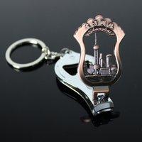 Wholesale Shanghai Oriental Pearl souvenirs nail scissors Keychain Key Ring bottle opener creative gift