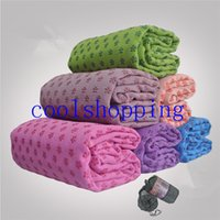 Wholesale Soft Travel Sport Fitness Exercise Yoga Pilates Mat Cover Towel Blanket Sports Towel x63cm