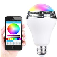android the music - Bluetooth smart light Wireless Control Speaker Smart Music Audio Speaker LED RGB Color Bulb Light compatible with all of the android decice