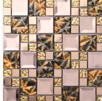 Wholesale The new listing of European glass mosaic background wall archaize color pattern entrance living room wall tile