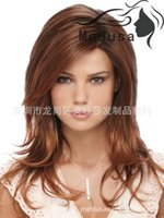 Wholesale Quality Available Brown Heat Resistant Full Wig Cheap Female Long Elegant Natural Straight Synthetic Natural Wig None Lace Wigs