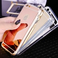 apple iphine - For iphine Mirror case Electroplating Chrome Ultrathin Soft TPU Phone Case Cover For Samsung Galaxy S6 S7 iphone plus Plus B SW