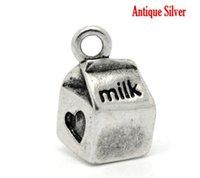 antique milk boxes - Retail Antique Silver Milk Box Heart Charm Pendants x11mm quot x3 quot sold per pack of