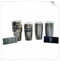 best insulated coolers - Best price Stainless Steel OZ OZ OZ YETI Cool cup Rambler Tumbler Cup Vehicle Beer Mug Double Wall Bilayer Vacuum Insulated ml