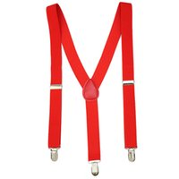 Wholesale New Stylish Red Unisex Clip on Sexy Suspenders Elastic Y Shape Adjustable Braces New Arrival