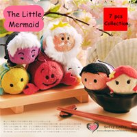 Wholesale TS Ariel Little Mermaid Collection mobile screen cleaner keychain bag hanger Prince King plush toy gift