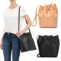 Wholesale Newest Mansur Gavriel bucket bag women genuine leather hand bag lady real leathe shoulder bag cross bag