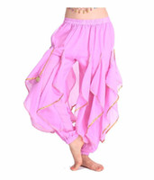 Cheap 2016 Hot Selling New Cheap Indian Tribal Belly Dance Harem Pants Bloomers for Women Chiffon Belly Dancing Costume Pant 13 Colors