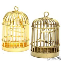 fairy furniture - Gold Mini Dollhouse Furniture Birdcages Childrens Toys Cabin Model Dream Fairy Household Craft Decoration New