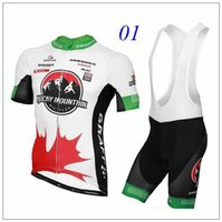 Wholesale 2016 Rocky Mountain Bicicletas Sale Ropa Ciclismo Red Black White Jersey Cycling Short Sleeve Bike Shirts bib Shorts Trousers Size XS XL