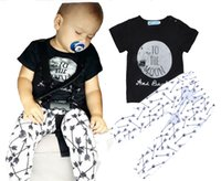 baby moons - NWT Cute Baby Girls Boys Outfits Summer pc Sets Boy Cotton Tops shirt Vest Harem Pants I love you to the moon and back arrow pants