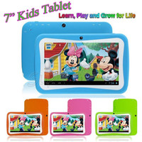 Wholesale 7 quot Capacitive Screen Android RK3126 Quad Core MB RAM GB ROM Children Kids Tablet PC Christmas Gift For Kids