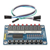 avr chips - 2016 New Electronic Circuit board Liquid Crystal DisplayTM1638 Chip Key Display Module Bits Digital LED Tube For AVR Chips