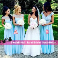 alternative bridesmaid dresses - 2016 Alternative Long Beaded Bridesmaid Dresses for Different Style Maid of Honors Formal Wear Sale Cheap Sky Blue Wedding Guest Gowns Cheap