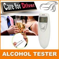 Wholesale Prefessional Police Portable Breath Alcohol Analyzer Digital Breathalyzer Tester Body Alcoholicity Meter Alcohol Detection