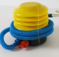 air pump hand - Blue Yellow Plastic Hand Foot Pump Inflator for Air Toys