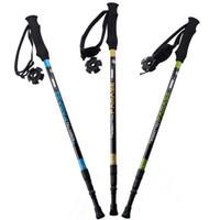 Wholesale g pc carbon fiber walking stick hike telescope stick nordic walking stick for nordic walking poles trekking poles cane
