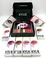 Wholesale 1set Kylie Lip Kit by kylie jenner Velvetine Liquid Matte Lipstick Lip Pencil Lip Gloss Set color High quality Gift