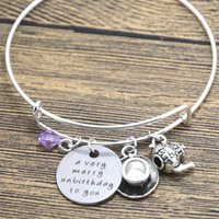 alice bracelets - 12pcs Alice in Wonderland inspired unbirthday bracelet A very merry unbirthday to you Tea Party Fairytale Jewlery bangle