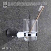Wholesale Han Pai Brass Bathroom Accessories Toothbrush Holder Wall Mounted Bath Acessorios de banheiro Cup Holder HP7719