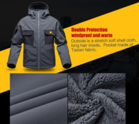 Wholesale FREE SOLDIER tactical waterproof soft shell hiking jacket hairy male military fans warm autumn and winter coat