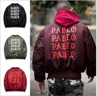 air force parka - Men s Suprem jacket Pablo MA1 pilot Bomber Jackets Men Pablo air force Thick Coats Kanye WEST Bomber Jacket Men Windbreaker Parkas