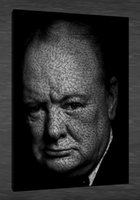 Wholesale HD Canvas Print home decor wall art painting Churchill No stretch