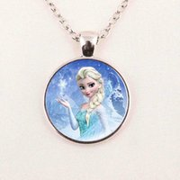 american dairy - 2015 New Fashion Snow Queen Necklace Dairy Queen Jewelry Glass Necklace Glass Cabochon Necklace Pendant