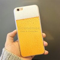 apple beer brands - For iPhone s plus Back Cover Soft TPU Fashion Brand Beer Pattern Back Cover with OPP BAG