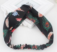 Wholesale hair accessory supplies fashion new arrival floral printed elastic hair bands for girls