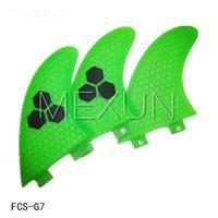 Wholesale New design surfing fins G7 L size surfboard fins with fiberglass honey comb material Tri set