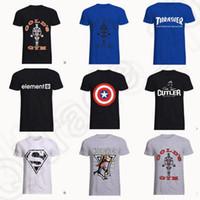 america element - 162 design LJJK155Summer Outdoor Sport T shirt Captain America Cotton Element animal GOLDS GYM YZZ Print Casual Men T Shirt