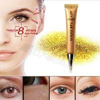 Wholesale 24K Gold Eye Cream Intensive Anti Aging Wrinkle Treatment Collagen Eye Essence Anti Puffiness Dark Circle